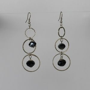 Handmade earrings. 3 different size loops with cut